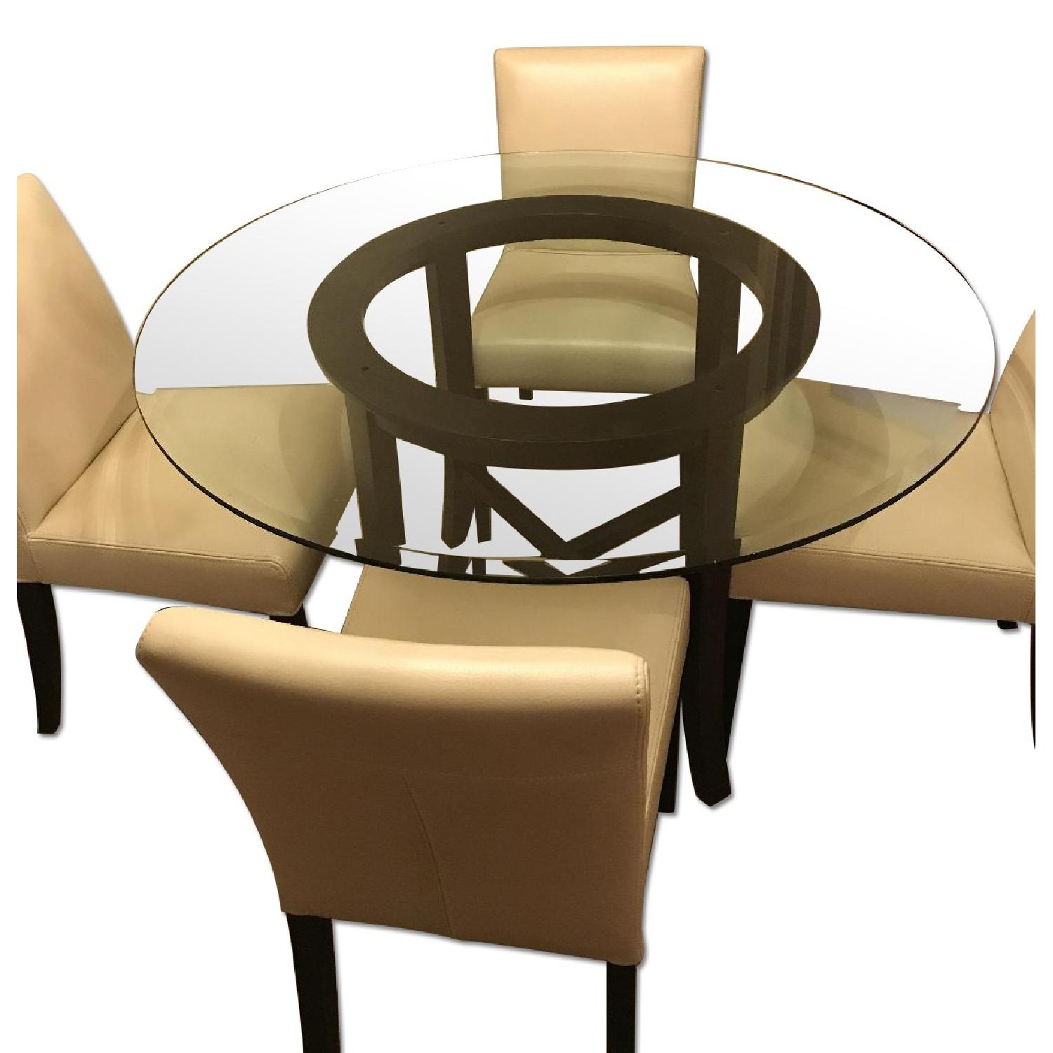 Crate and barrel glass table