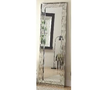 Rustic white floor mirror