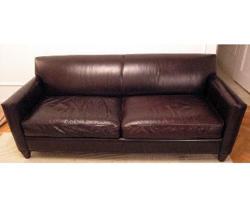 Crate & Barrel Hennessy Leather Sofa Custom Order