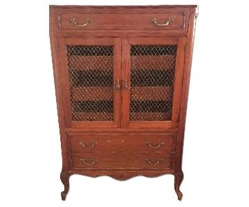 French Provincial High Dresser w/ Marble Top