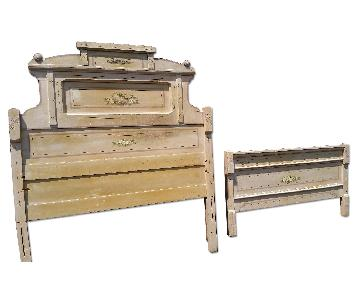 Antique Painted Full Sise Bed Frame