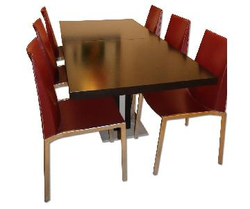 BoConcept Dining Table w/ 8 Leather Chairs