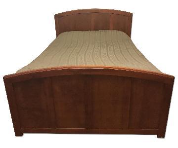 crate barrel solid wood queen bed frame - Solid Wood Queen Bed Frame