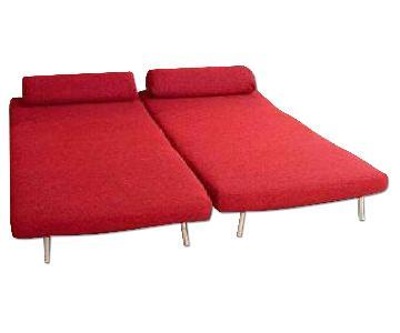 Ido Red Sleeper Sofa
