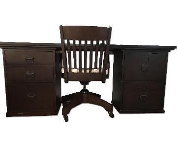 Pottery Barn Bedford Desk & Chair