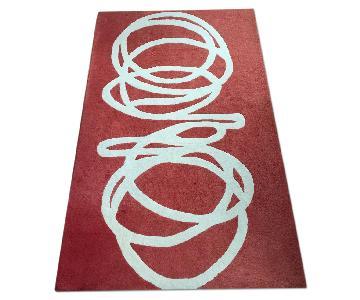 CB2 Slink Rug in Red