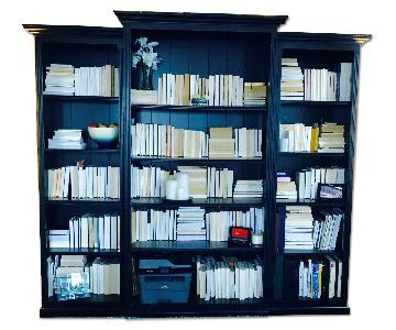 Ballard Designs Tuscan Vintage 3 Piece Black Bookcases