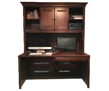 Ethan Allen British Classics Desk & Hutch