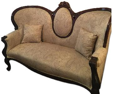 Antique Victorian Style Sofa + Loveseat + Armchair