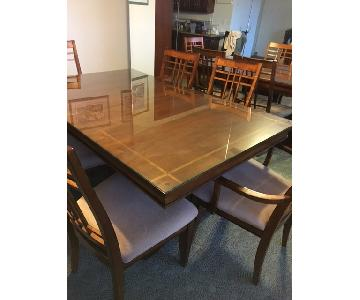 Wellwood Extendable Dining Table w/ 6 Cushioned Chairs + Sideboard