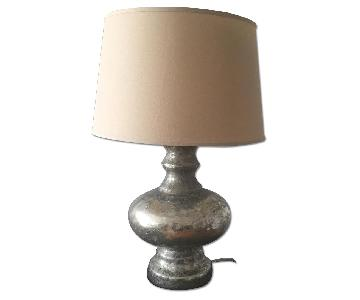 Pottery Barn Mercury Glass Table Lamps
