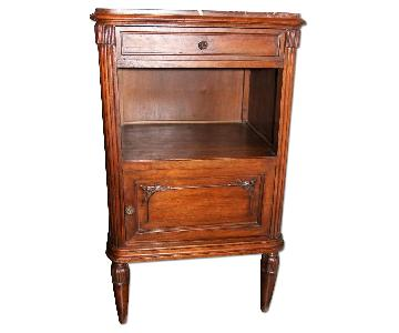 ABC Carpet and Home Louis XVI Marble Top Nightstand/Side Tab
