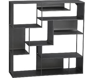CB2 Metal Bookcases