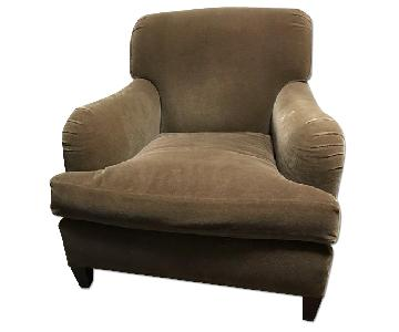 Large Arm Chair in Mohair Fabric