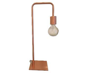 CB2 Arc Copper Table Lamp