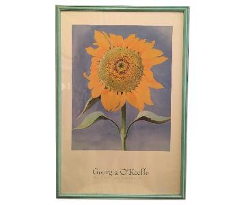 Georgia O'Keeffe Print Framed