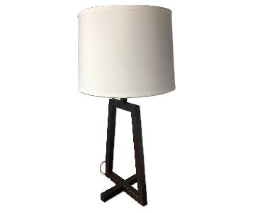 Dark Brown Modern Table Lamp