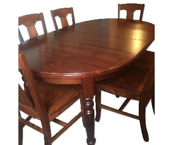 Pottery Barn Ashford Dining Table w/ 6 Loren Chairs