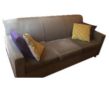 Raymour & Flanigan Microfiber 3 Seater Sofa