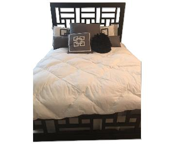 Raymour & Flanigan Black Queen Bed Frame