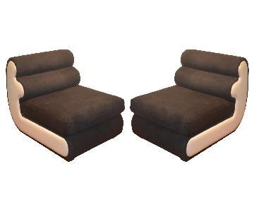 Italian Sectiona Slipper Chairs