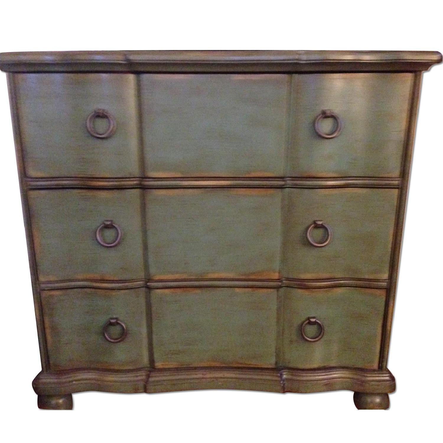 Hand Painted Distressed Blue/Green Chest
