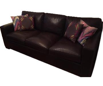 Crate & Barrel Leather Axis 3 Seater Sofa