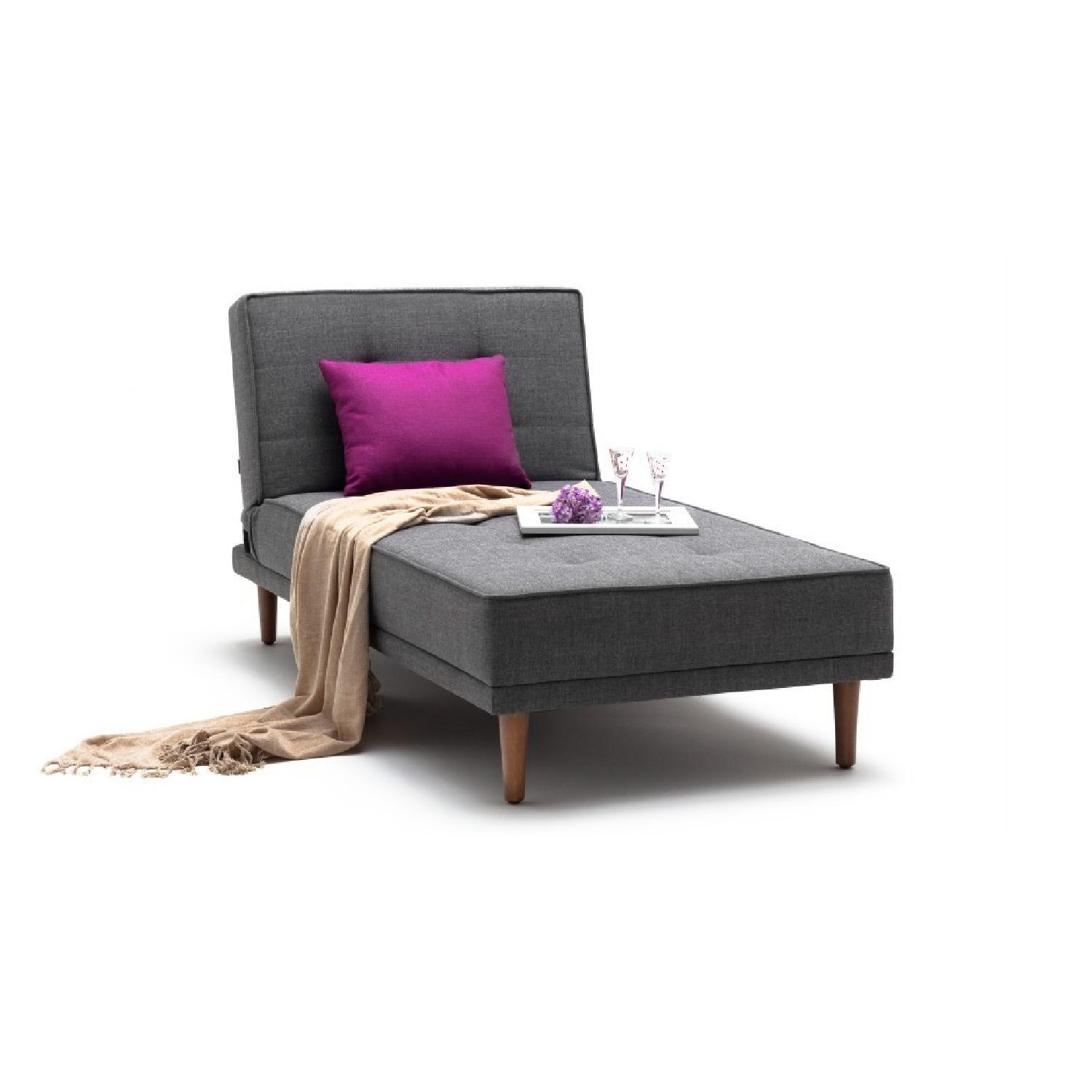 Lazzoni L Sectional Sofa Bed in Grey