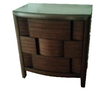 Magnussen Home 3 Drawer Wood Nightstand