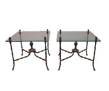 Pair of Italian Vintage Side Tables