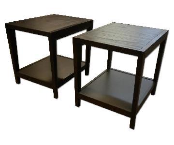 Modern End Tables (x2)