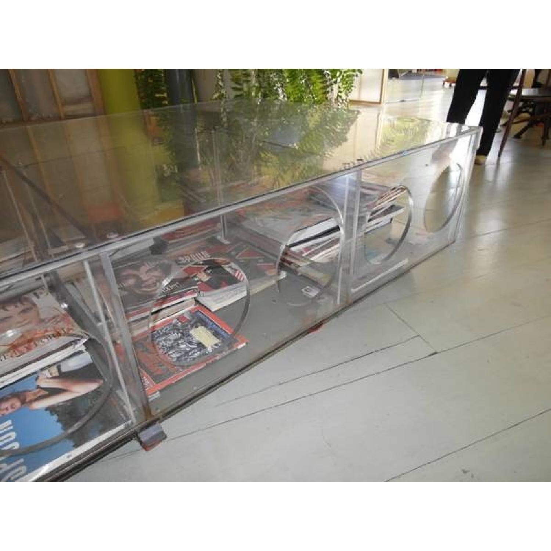 Unique Photographer's Plexiglass Table on Wheels-1