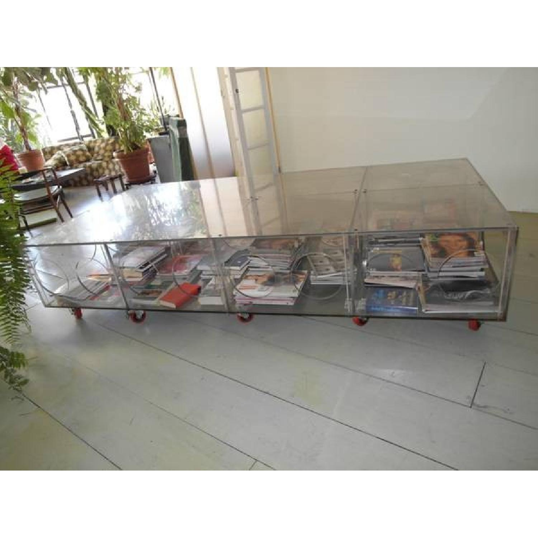 Unique Photographer's Plexiglass Table on Wheels-0