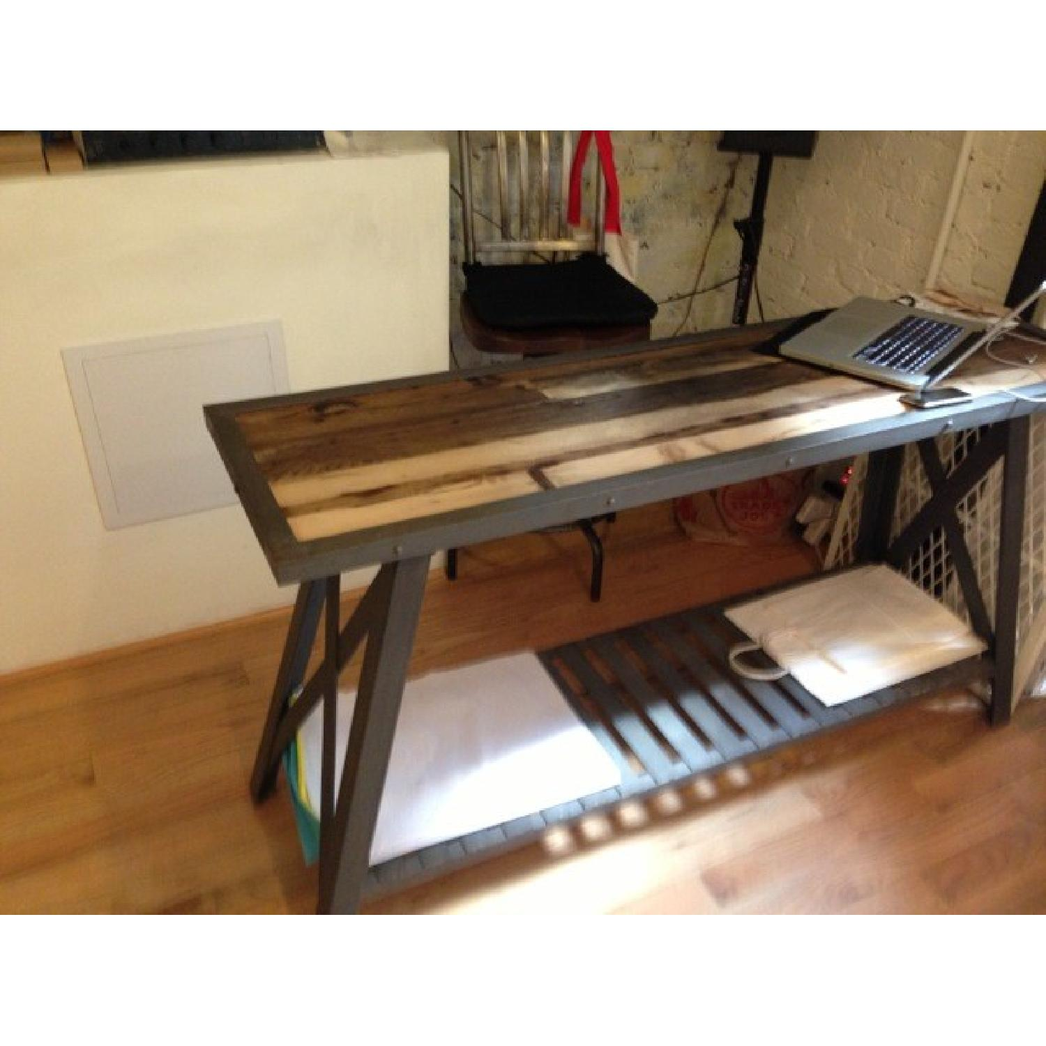 Used cast iron wood console table for sale in nyc aptdeco - Used console table for sale ...