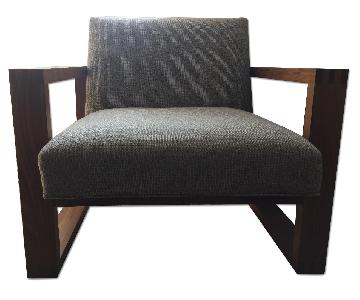 Room & Board Zane Chair in Durand Granite w/ Walnut Frame