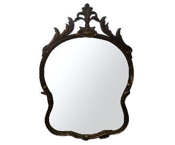 Baroque Rococo French Provincial Antique Gilt Gilded Mirror