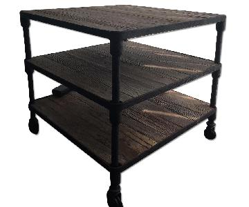 Restoration Hardware Dutch Industrial Side Table