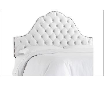 One Kings Lane Tufted Velvet Headboard