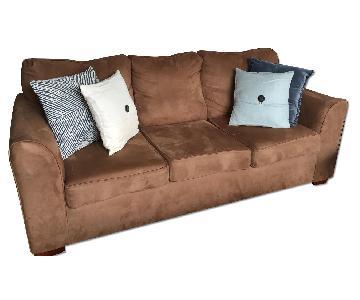 Microfiber 3 Seater Sofa in Natural Color