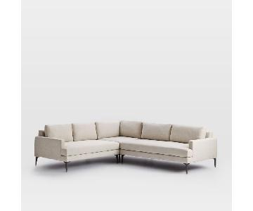 West Elm Andes 3-Piece Sectional Sofa