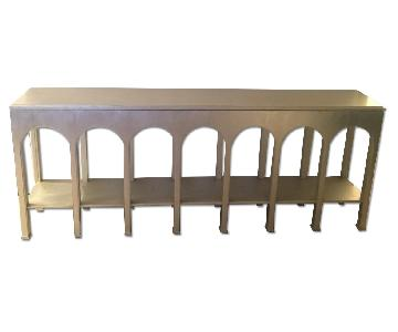 Stanley Crestaire-Brooks Console Table in Argent