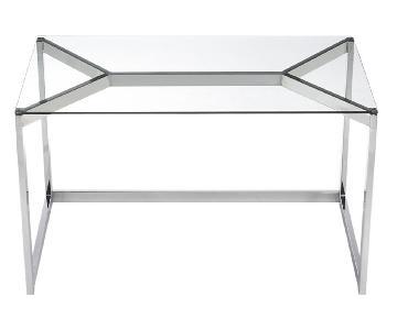 CB2 Tesso Chrome Desk & Studio Office Chair