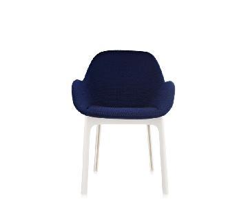 Kartell Blue & White Armchair