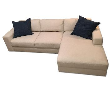 West Elm Urban 2-Piece Chaise Sectional Sofa