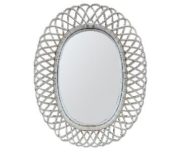 Vintage Wicker Mirror