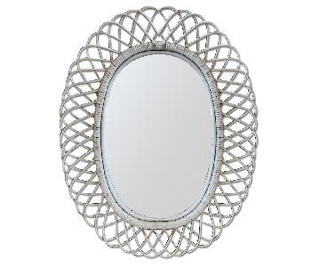 Vintage Wicker Mirror