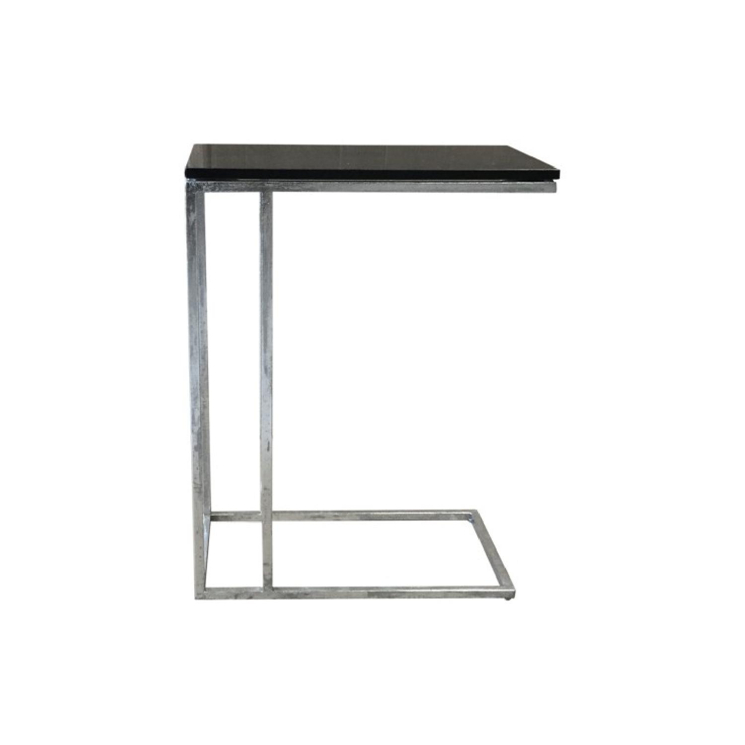 Iron Side End Table w/ Marble Top