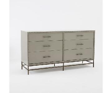 West Elm Nail Head 6 Drawer Dresser
