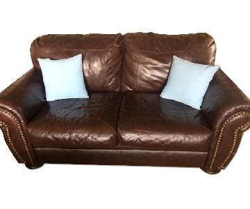 Jennifer Leather Custom Leather Loveseat