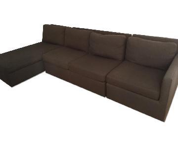 Crate & Barrel Sectional Sofa